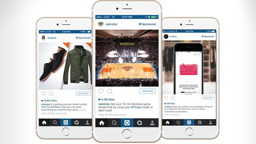 """instagram sponsored hed 2015 1024x576 - NRF 2018: """"Los usuarios de Instagram quieren interactuar con los minoristas"""""""
