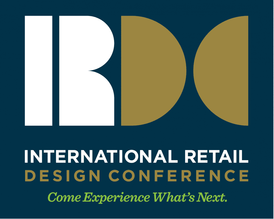 irdc reverse logo stacked w tagline - International Retail Design Conference (IRDC)