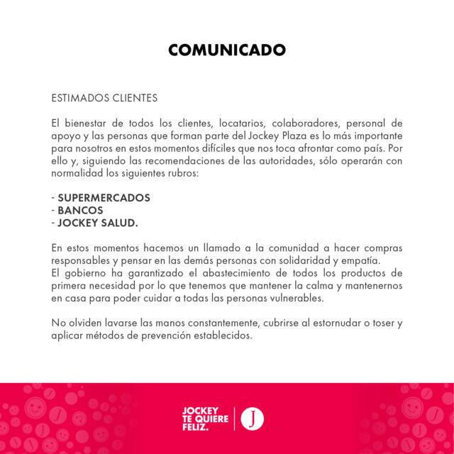 jockey plaza 6 640x640 - Malls peruanos acatan emergencia sanitaria por el coronavirus