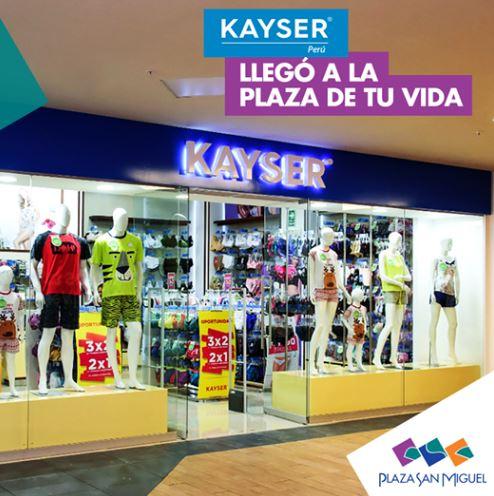 kayser peru - ¿Cuáles son las nuevas marcas que ingresaron a Plaza San Miguel?