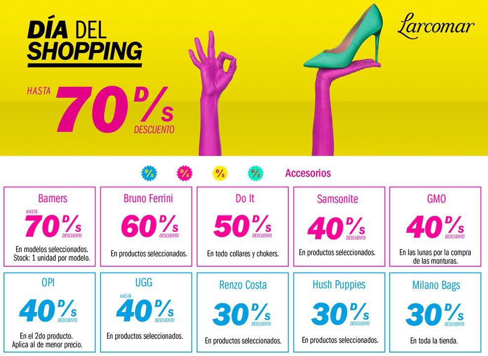 larcomar dia del shopping - Más de 40 marcas tendrán grandes ofertas en Larcomar por el Día del Shopping