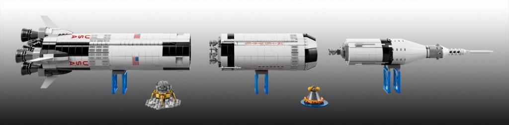 lego NASA Apolo Saturno V 5 1024x252 - Lego presenta su nuevo cohete 'NASA Apolo Saturno V'