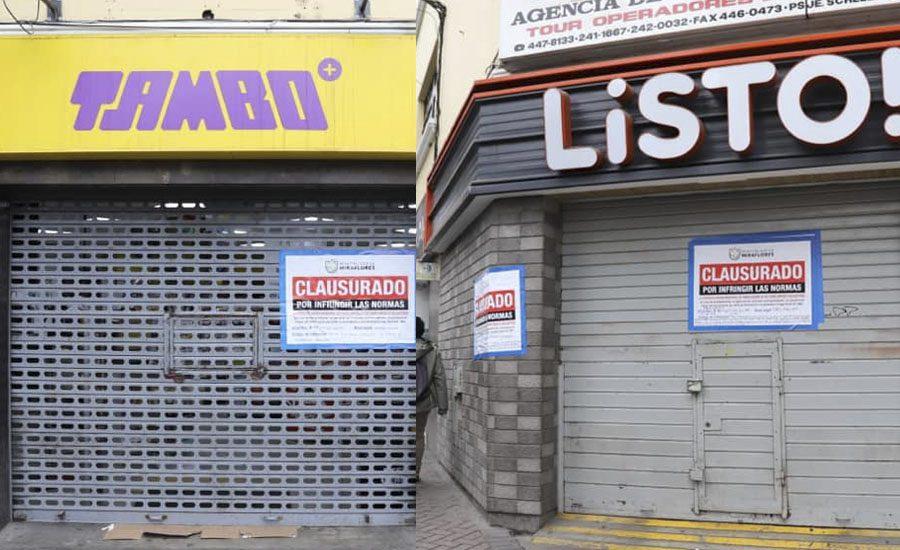 listo y tambo clausurados - Miraflores: Locales de Tambo+ y Listo! son clausurados por vender productos vencidos