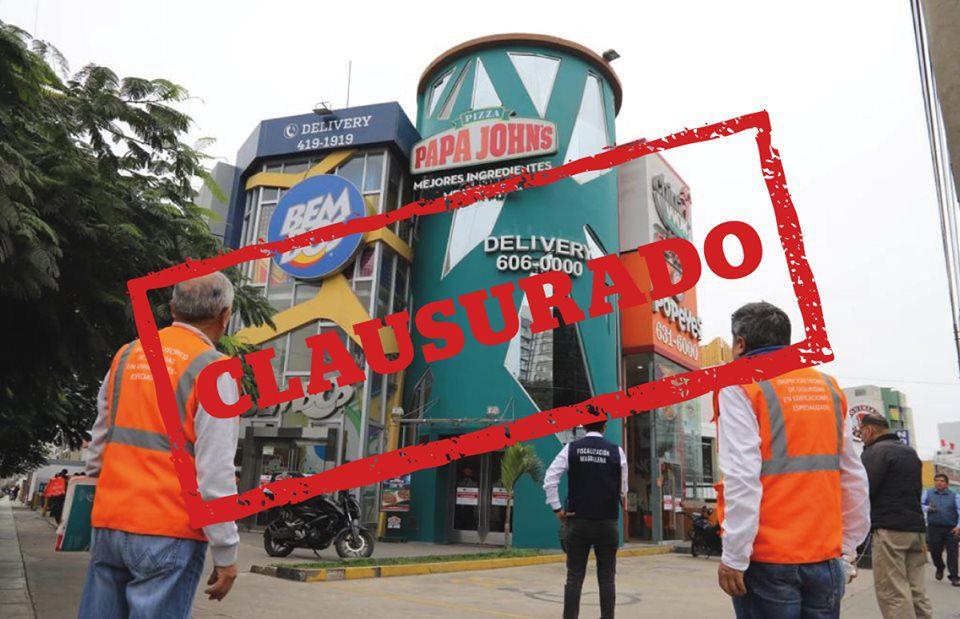 locales de comida rápida fueron clausurados - Magdalena: Cuatro locales de comida rápida fueron clausurados por incumplir medidas sanitarias