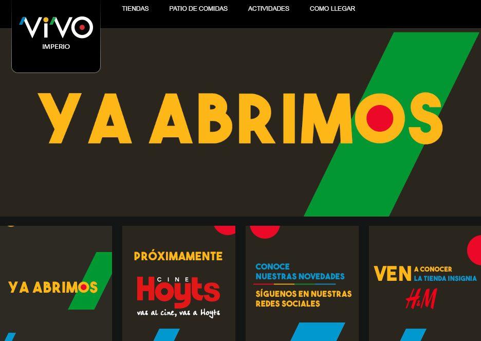 mall vivo imperio - Mall Vivo Imperio abre con H&M en Chile