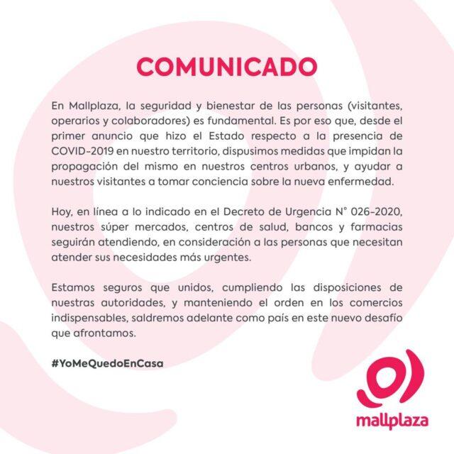 mallplaza 4 640x640 - Malls peruanos acatan emergencia sanitaria por el coronavirus