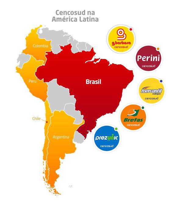 mapa cencosud brasil peru retail - Cencosud cerró trece tiendas para mejorar ventas SSS en Brasil