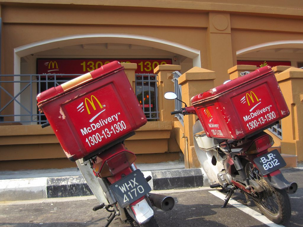 delivery mcdonalds recycles - HD 1024×768