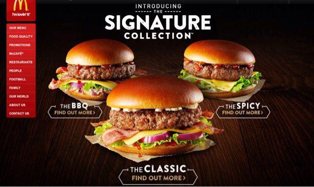 mcdonadls signature collection