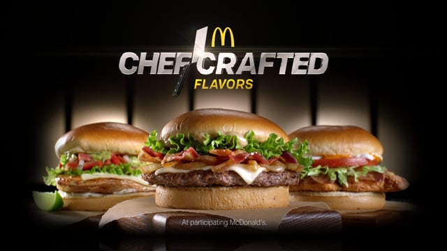 mcdonalds chef crafted