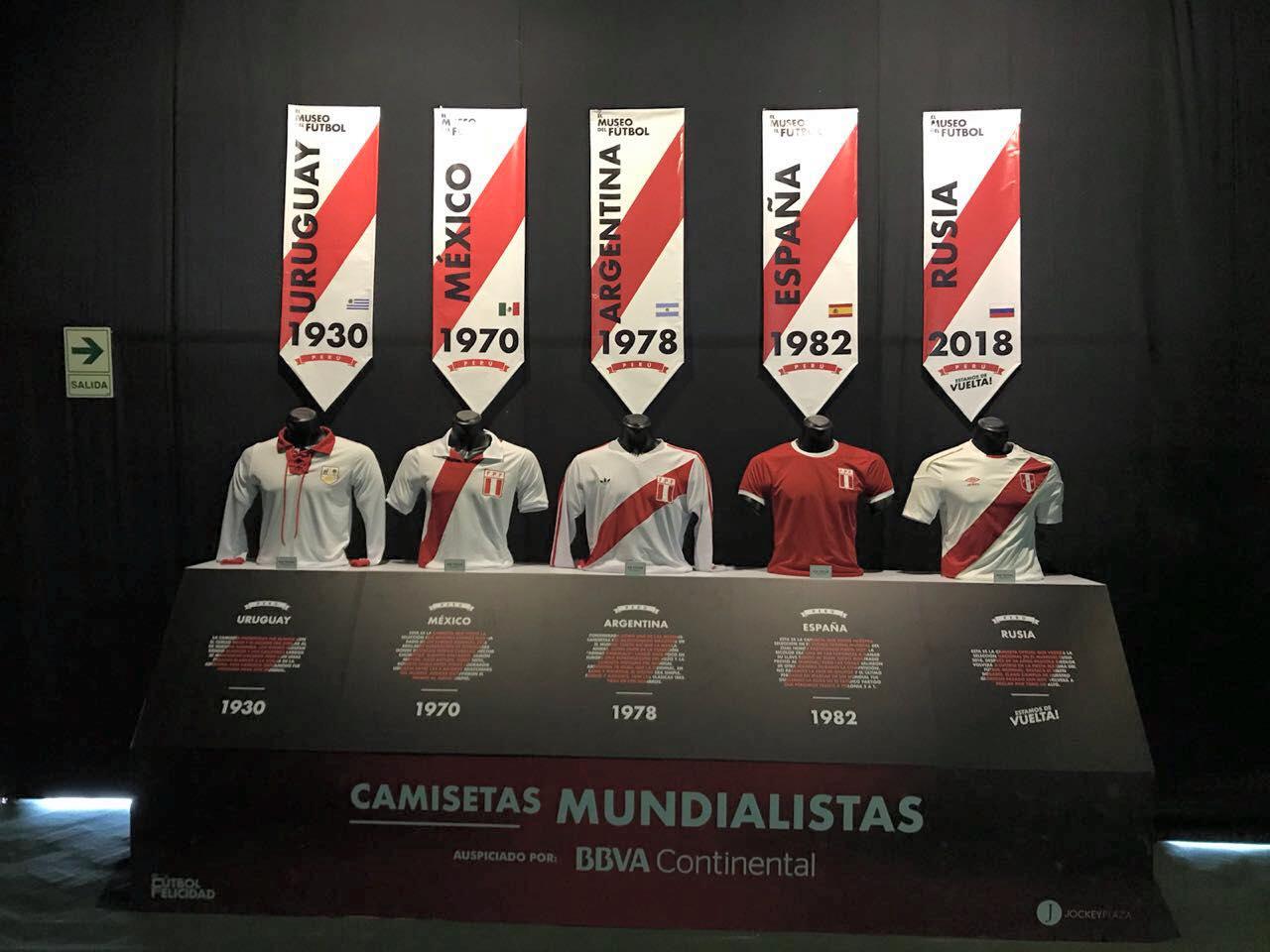 """museo futbol 2 - Perú: Jockey Plaza abrió las puertas del """"Museo del Fútbol"""""""