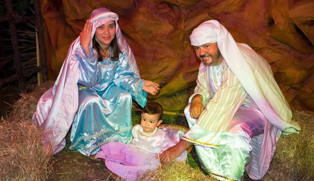 nacimiento en vivo - MegaPlaza se prepara para celebrar la Navidad