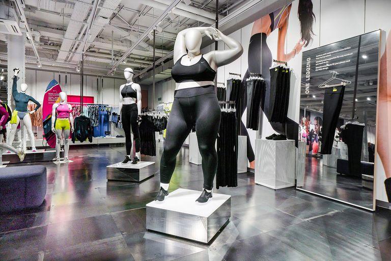 nike maniquies talla grande - Nike promueve la diversidad de cuerpos con estos maniquíes