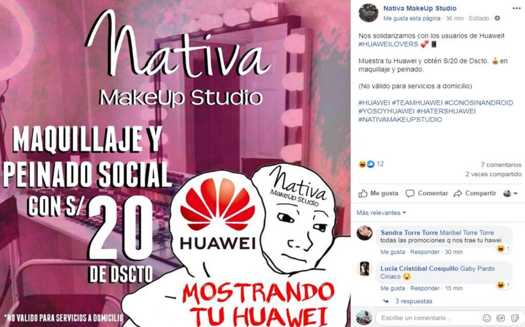 oferta huawei 3 Perú Retail 1024x639 - Conoce los negocios que han aprovechado el veto de Huawei para lanzar ofertas