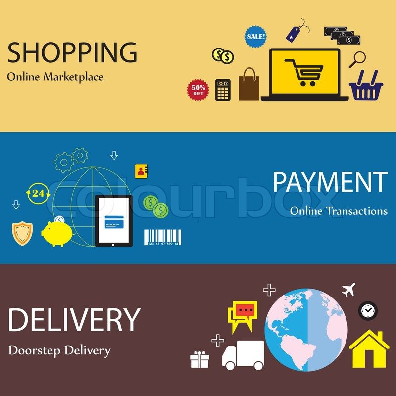 online-internet-shopping-payment-delivery-concept-flat-icons-set