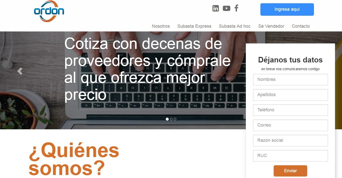 ordon peru 2018 - Conozca la startup peruana que le ayudará a realizar un proceso de compra transparente