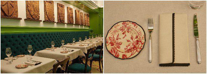 original osteria gucci interior place setting - Gucci abre lujoso restaurante dentro de su tienda en Italia