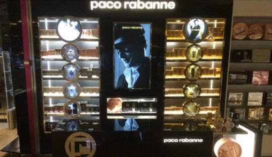 paco rabanne - señalizacion digital