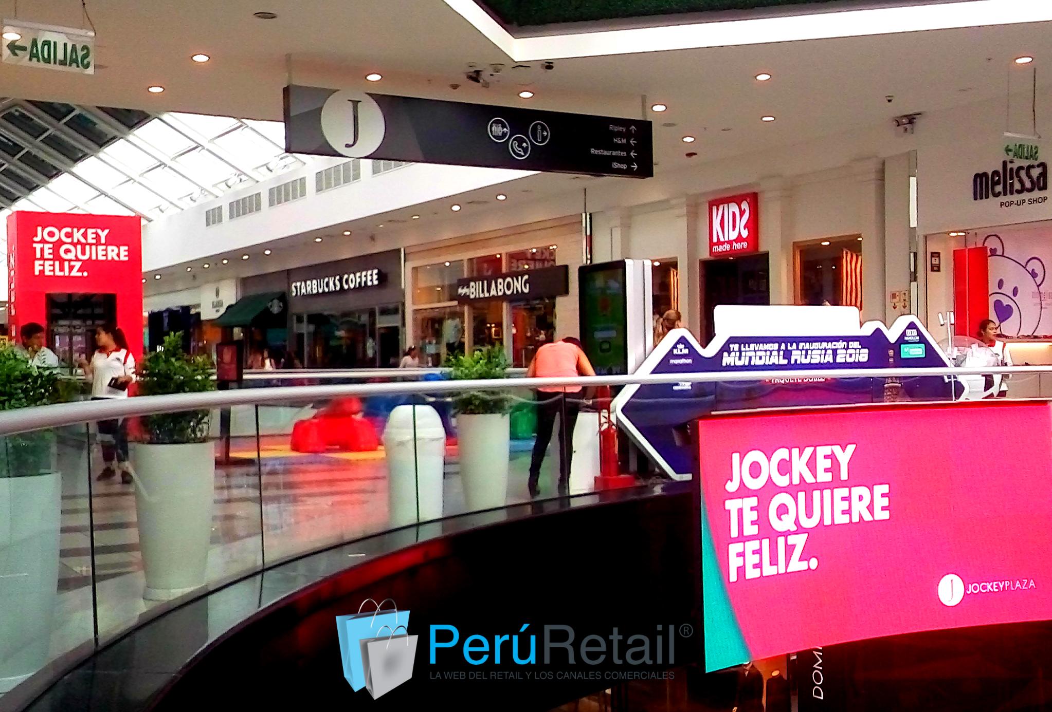 pasillo central 1 Peru Retail - Jockey Plaza suma nuevos locatarios mientras que otros se renuevan