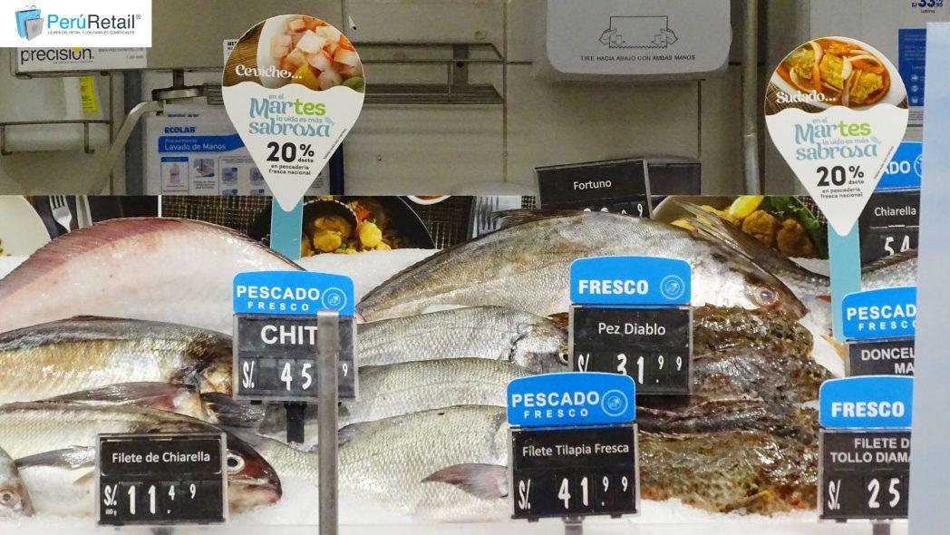 pescado plaza vea - Perú: Tottus e Hiperbodega Precio Uno ofrecerán los martes un 20% de descuento en pescadería fresca nacional