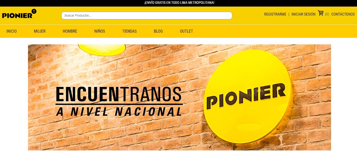 pionier web 1 - Perú: Pionier incorpora todas sus marcas al canal digital para aumentar sus ventas