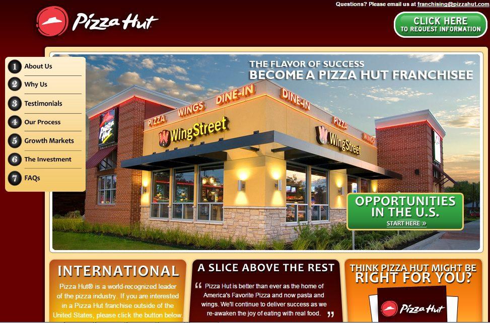 pizza hut franquicia