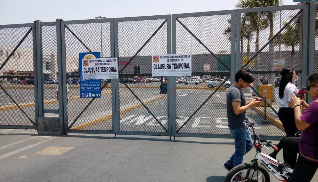 plaza lima sur cierre - Clausuran temporalmente Plaza Lima Sur por carecer licencia de funcionamiento