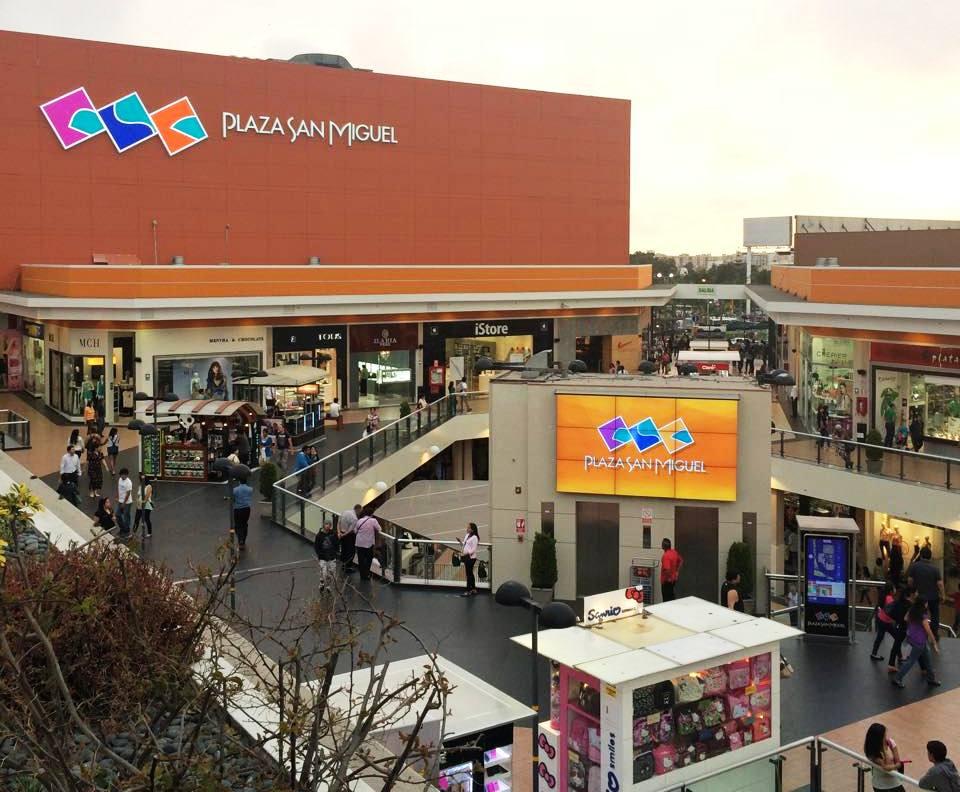 plaza san miguel - ¿Qué centros comerciales puedes visitar en Lima?