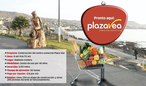 plaza vea ilo - Plaza Vea Ilo estaría listo para el próximo año