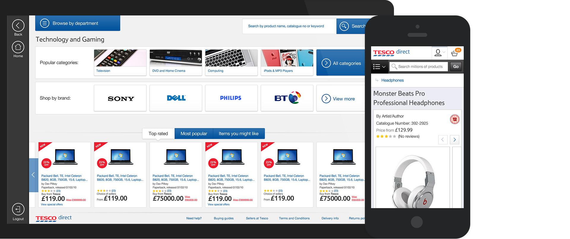 portfolio work tesco direct 03 - Tesco cerrará tienda online Tesco Direct para reforzar su negocio