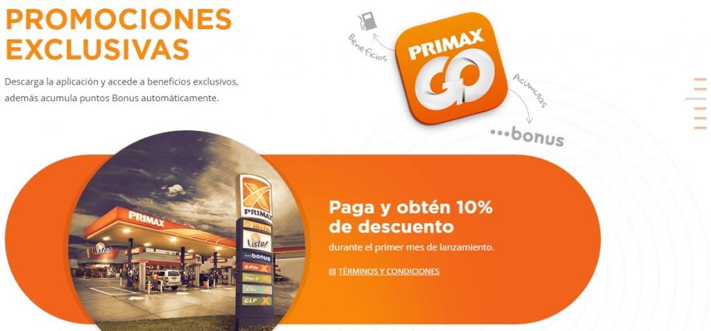 """primax go peru 1024x478 - """"PRIMAX GO"""": primera aplicación para pagar consumos de combustible desde el celular en Perú"""