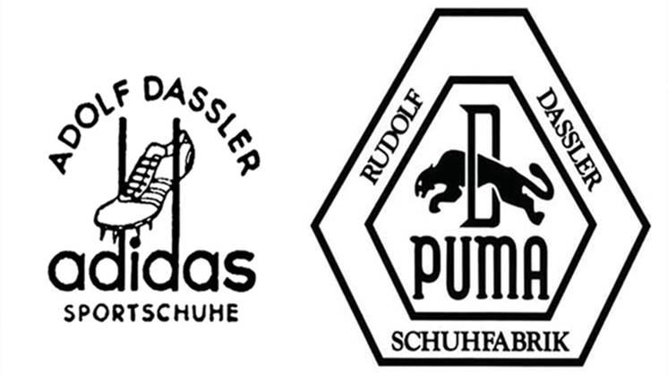 primeros logos de ambas marcas Perú Retail - Adidas y Puma: la 'guerra' eterna del apellido Dassler