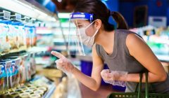 protector facial supermercado