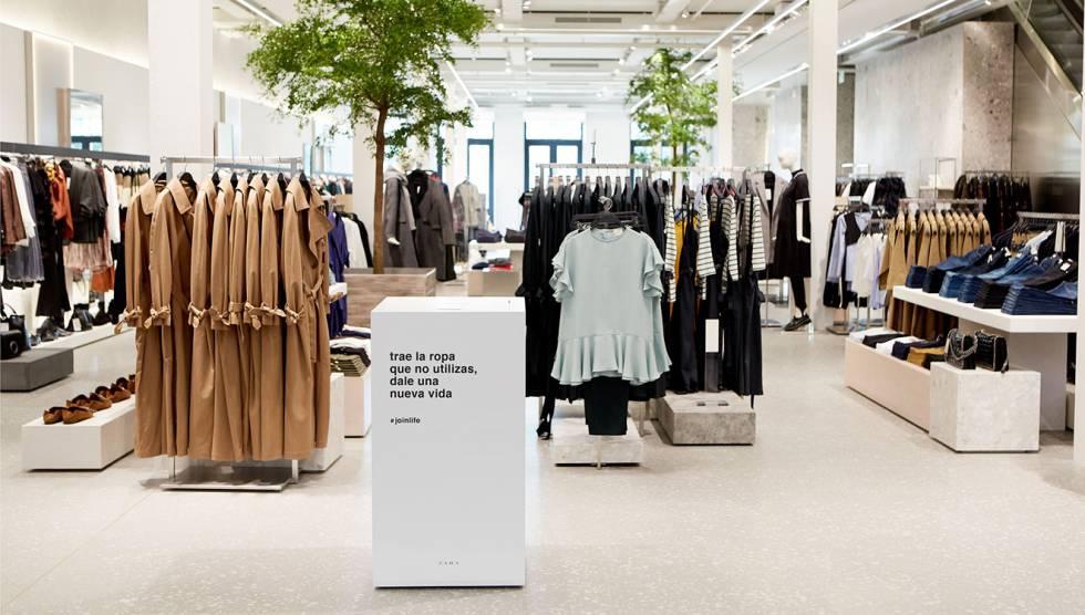 reutiliza ropa zara - Inditex planea que todas sus tiendas sean ecosostenibles en 2020