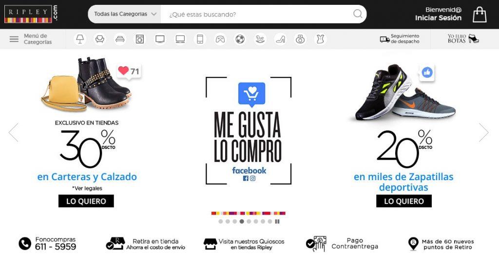 ripley.com .pe  1 1024x528 - Perú: Desafíos y tendencias del e-commerce para el 2018