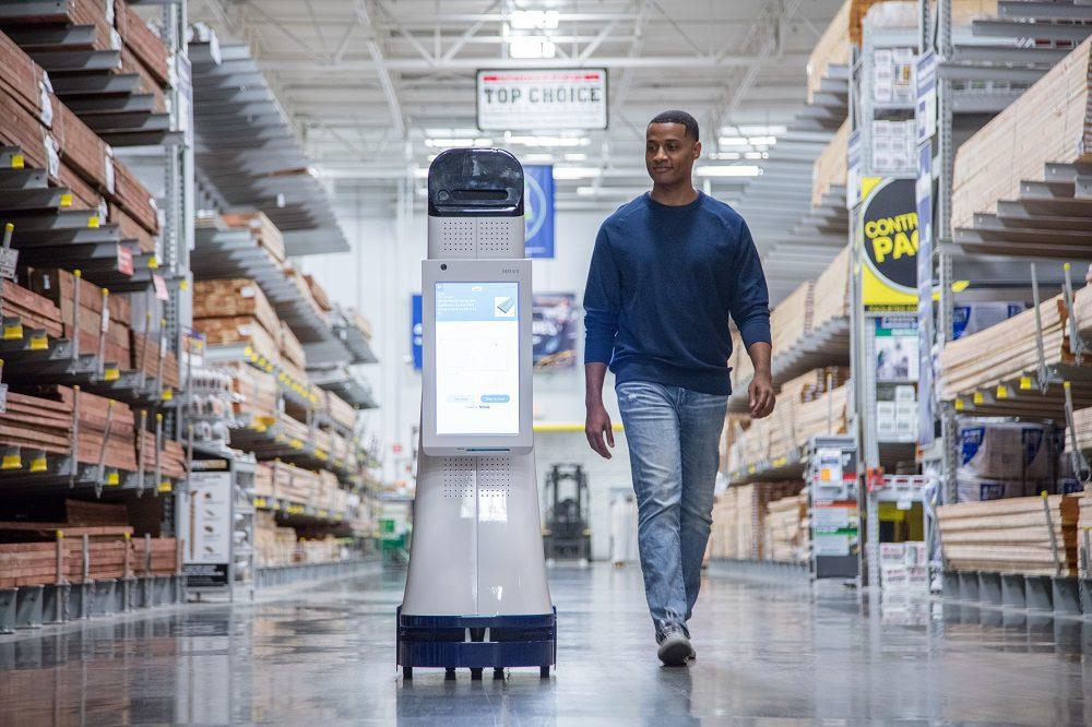 robots en el sector retail