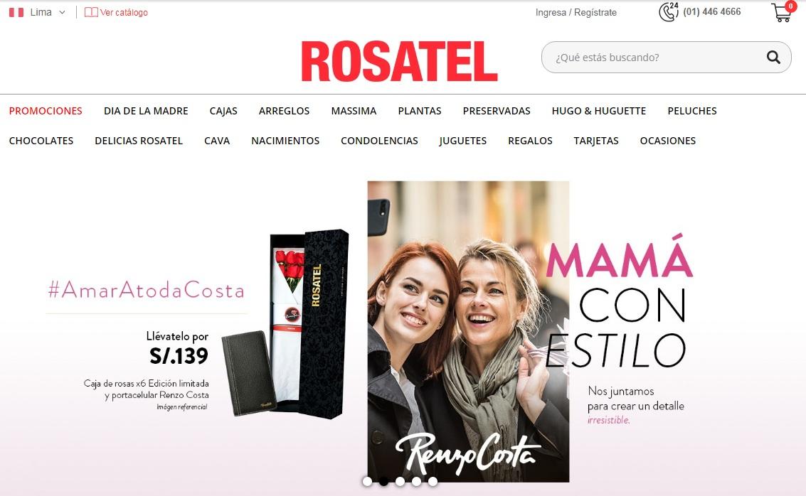 rosatel mama - Domicilios.com y Rosatel anuncian alianza corporativa en Perú