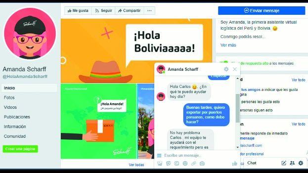 scharffchat asistente virtual amanda - Conoce más de la primera asistente virtual de logística en Bolivia