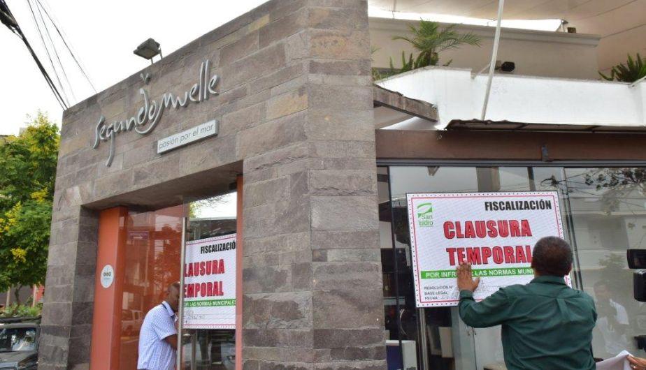 segundo muelle - Segundo Muelle cierra temporalmente 5 locales en Lima ante problemas de salubridad