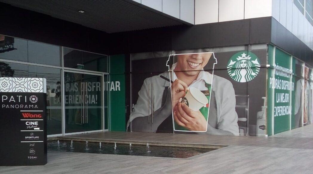 starbucks patio panorama - Perú: Starbucks abrirá nueva cafetería en el lifestyle center Patio Panorama de Surco