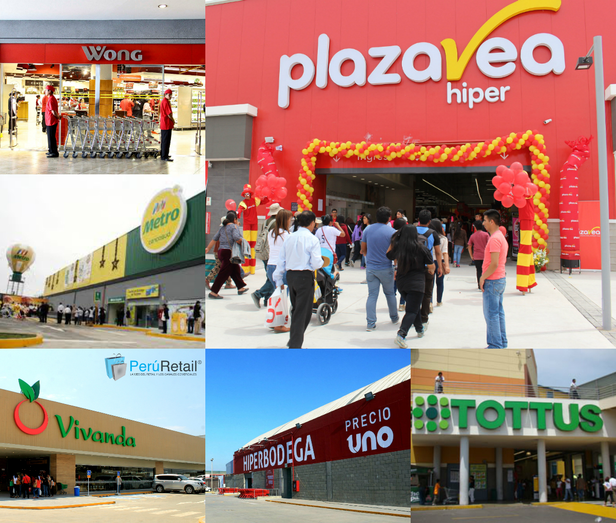supermercados collage - Perú: Supermercados Peruanos supera en ventas a Tottus, Wong y Metro