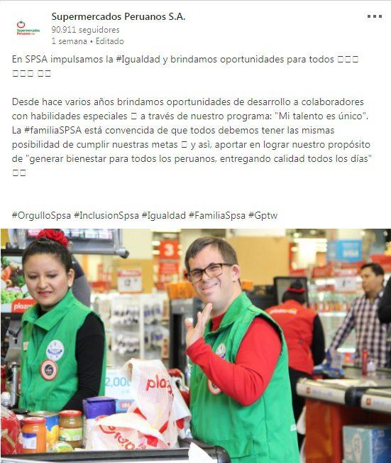 supermercados peruanos linkedin 2018