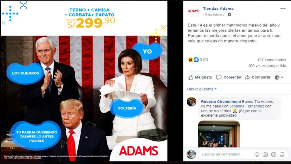 tienda adams 1024x576 - Perú: Mira las excéntricas ideas de algunos negocios para celebrar San Valentín