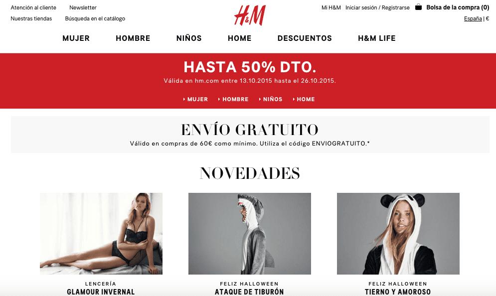tienda online HM - ¿A qué se debe el crecimiento del 12% en el tercer trimestre del año de H&M?