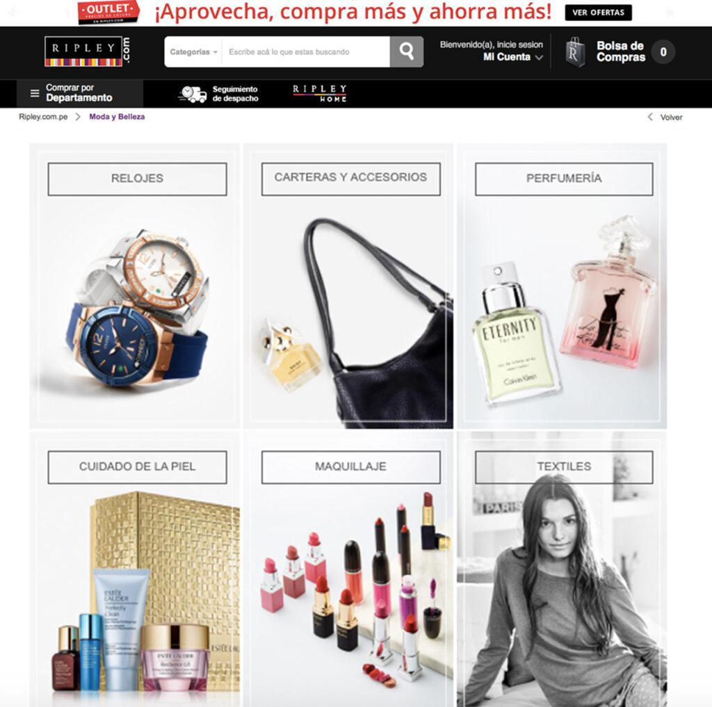 tienda online Ripley - Perú Retail