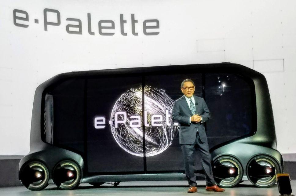 toyota epalette furgoneta - CES 2018: Pizza Hut presenta su camión repartidor autónomo
