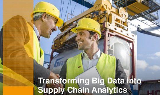 transforming big data into supply chain analytics - ¿Qué es la logística compartida?