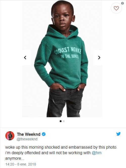 twitter niño - H&M retira publicidad tras ser acusada de racista