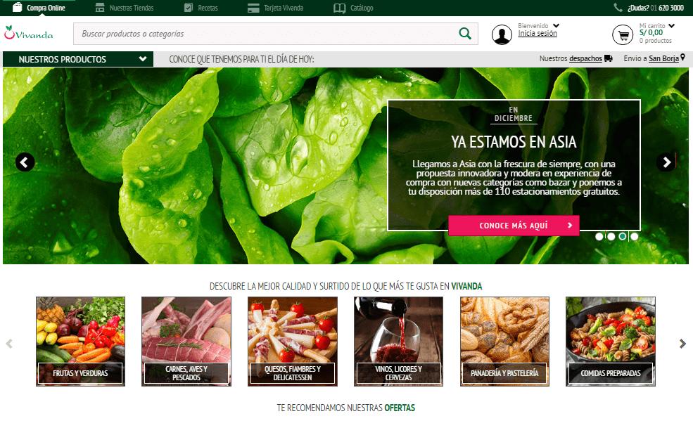 vivanda ecommerce - Vivanda entregará pedidos en zonas aledañas al boulevard de Asia