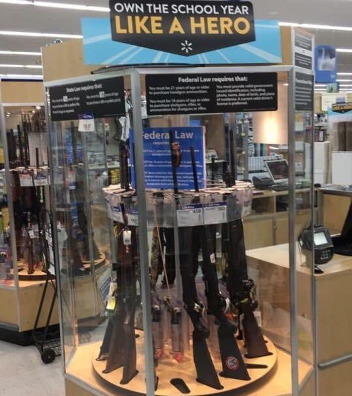walmart armas de fuego - Walmart eleva a 21 la edad mínima para comprar armas en sus tiendas